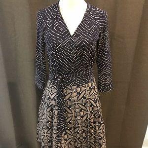 Diane von Furstenburg blue wrap dress size 8